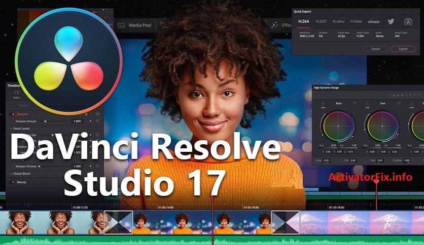 DaVinci Resolve Studio 17.2.1.0012 Crack + Key Free Download