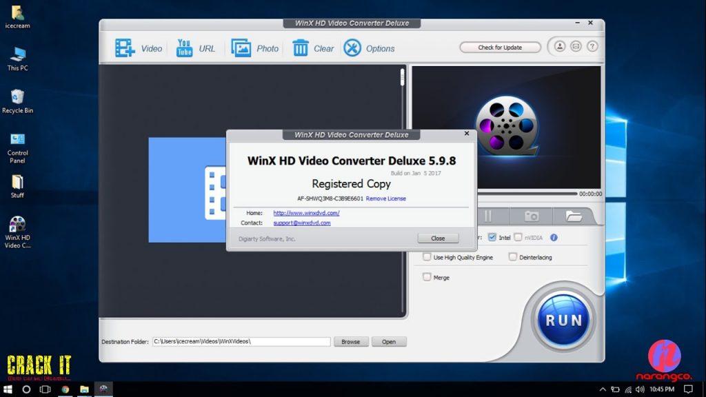WinX HD Video Converter Deluxe Activation Key