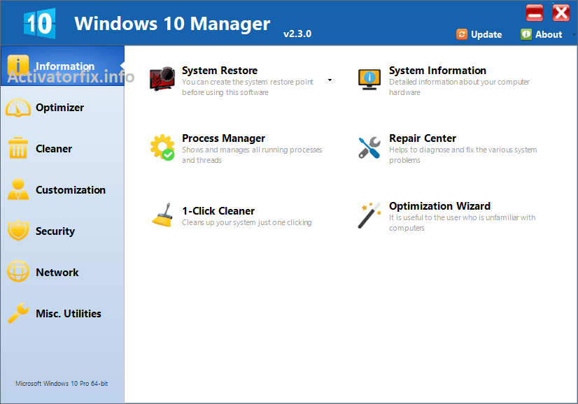 Windows 10 Manager Full Version Cracked
